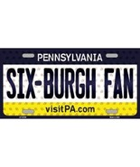 Steelers Pennsylvania State Background Novelty Metal License Plate Tag (... - $12.30