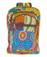 African Kente Cloth Adult Sized Backpack Floral Multiprint - $49.00