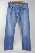 Mens LEVIS Jeans 514 Mediium Light Wash 34x34 Straight Fit (minor stain/... - $21.99