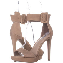 Steve Madden Circuit Platform Ankle Strap Sandals, Tan 658, Tan, 9.5 US - $41.27