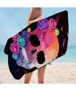Artistic Skull and Roses Microfiber Beach Towel - $22.04+