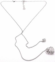 Necklace Silver 925, Double Heart Convex and Perforated Pendant, by Maria Ielpo image 1