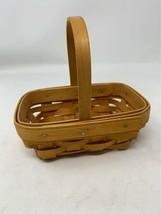 Longaberger 2001 Mini Rectangular Basket with Handle - $11.87