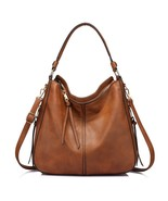 Handbags for Women Large Designer Ladies Hobo bag Bucket Purse Faux Leather - $49.68