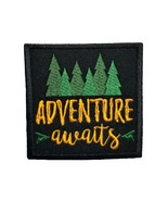 Funny Camping Life Quotes Adventure Awaits Embroidered Iron On Patch Chi... - $5.87