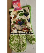 "Fabric Printed Kitchen 12"" Jumbo Oven Mitt, FRUITS & BERRIES by Dailies ... - $7.91"