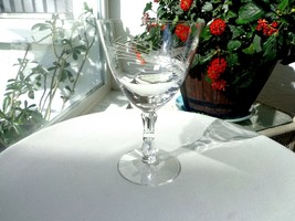 "Tiffin Franciscan Silver Wheat Water Goblet 6 3/8"" Tall Multiple Avail. - $24.74"
