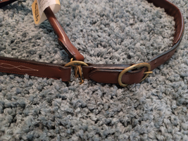 Action Company Leather Halter Light Chocolate Horse Size Padded crown & nose image 3