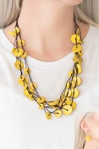 Bermuda Beach House - Yellow Necklace - $5.00