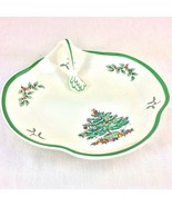 """Vintage SPODE Christmas Tree 8"""" Serving Tray w Handle Ornate Candy Dish ... - $18.80"""