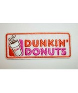 """Dunkin Donuts~Coffee~Embroidered Patch~3 1/8"""" X 1""""~Iron or Sew On - $3.25"""