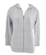 Champion Women's French Terry Full Zip Hoodie, White\Black, Size L - $16.82