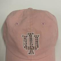 Indiana University Strapback Hat Women's Adjustable Pink NCAA Hoosiers - $9.46