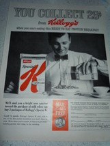 Vintage Kellogg's Special K Cereal Protein Breakfast Page Print Magazine Adverti - $8.99