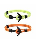 Monade Men Women Braid Rope Bracelet for Unisex Handmade Nautical Anchor... - $10.84