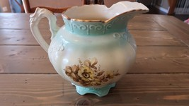 """Antique RS PRUSSIA """"Flower"""" Water Pitcher - $74.24"""