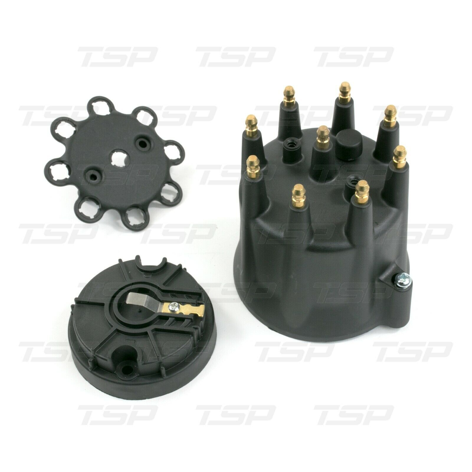A-Team Performance 8-Cylinder Male Pro Series Distributor Cap & Rotor Kit Black