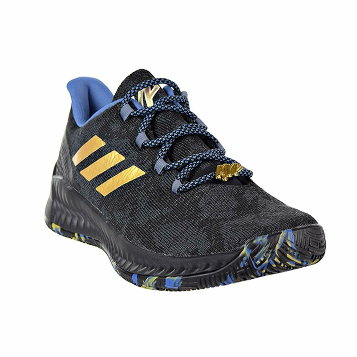 Adidas Harden B/E X MVP James Black Blue Gold Mens Basketball Shoes F36813 image 2