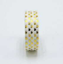 KEVIN&SASA CRAFTS® Golden Heart Foil Washi Tape Scrapbooking Tools Cute - £3.48 GBP