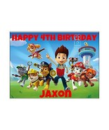 PAW PATROL EDIBLE IMAGE CAKE TOPPER DECORATION PARTY Personalized Birthd... - $9.99