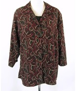 Notations Plus Size 3X Layered-Look Blouse Button Down Top - $16.99