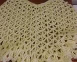 Yellow Hand Crocheted Toddler Girls Poncho 18-24 mo - £5.64 GBP
