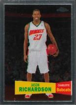 Jason Richardson Topps Chrome 07-08 #58 57-58 Variation Charlotte Bobcats - $0.75