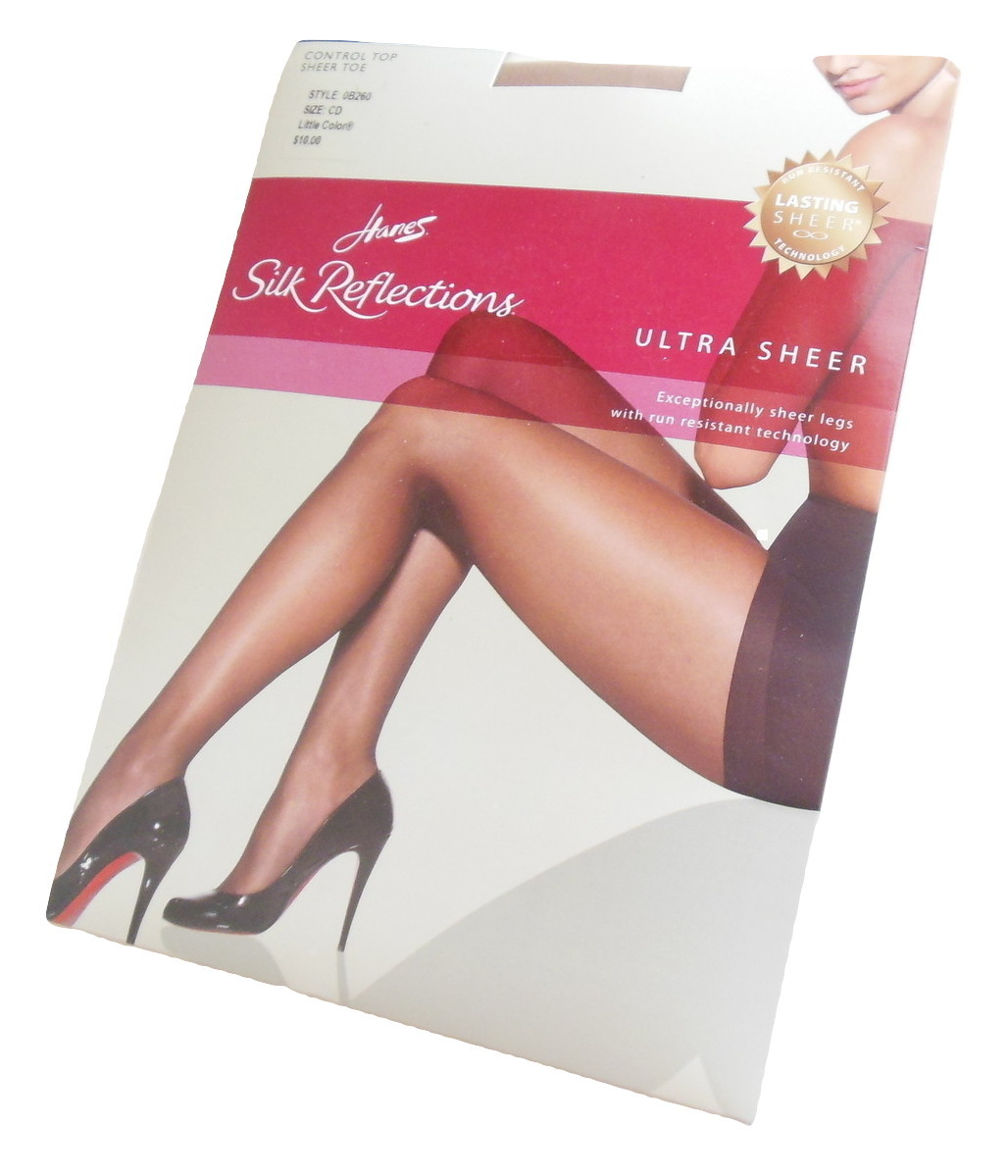 84321943b01 Hanes Silk Reflections Sheer Toe Pantyhose CD M L Little Color Run Resistant