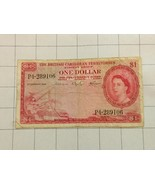 1964 The British Caribbean Territories Eastern Group $1 Dollar Bank Note - $95.00