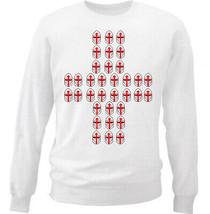 Knight Templar Pattern 17 - NEW WHITE COTTON SWEATSHIRT - $30.65