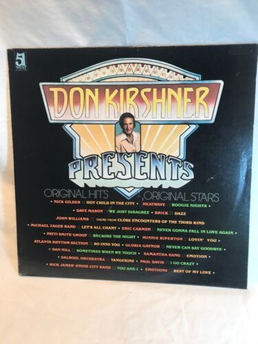 Primary image for DON KIRSHNER PRESENTS - Original Hits, Original Stars: Dave Mason, Album Record