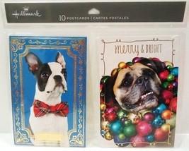 Hallmark - Foil - 10 Pack - Dogs - Christmas - Holiday - Postcards - Brand New - $2.69
