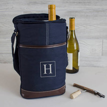 Personalized Wine Cooler Tote, Monogram Wine Bag - $56.15 CAD