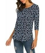 Sherosa Women's Casual 3/4 Sleeve Loose Tunic Tops Scoop Neck T-Shirt - $44.34+