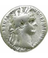 TRAJAN Silver Tetradrachm Rome mint. Legionary Eagle Aquila. Ancient Rom... - $161.10