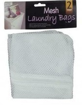 2 Mesh Laundry Bags, College Supplies, Laundry Supplies, Sports Hampers  - $7.42