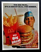 Vtg 1971 McDonald's Big Mac meal retro restaurant advertisement print ad... - $7.91