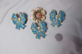 4 Antique Tin Curtain Tiebacks - $16.69