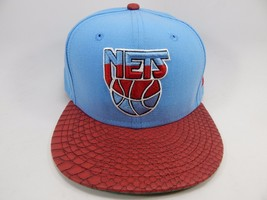 New Jersey Nets New Era Size 7 3/8 Fitted 59Fifty Official NBA Cap Hat Blue Red