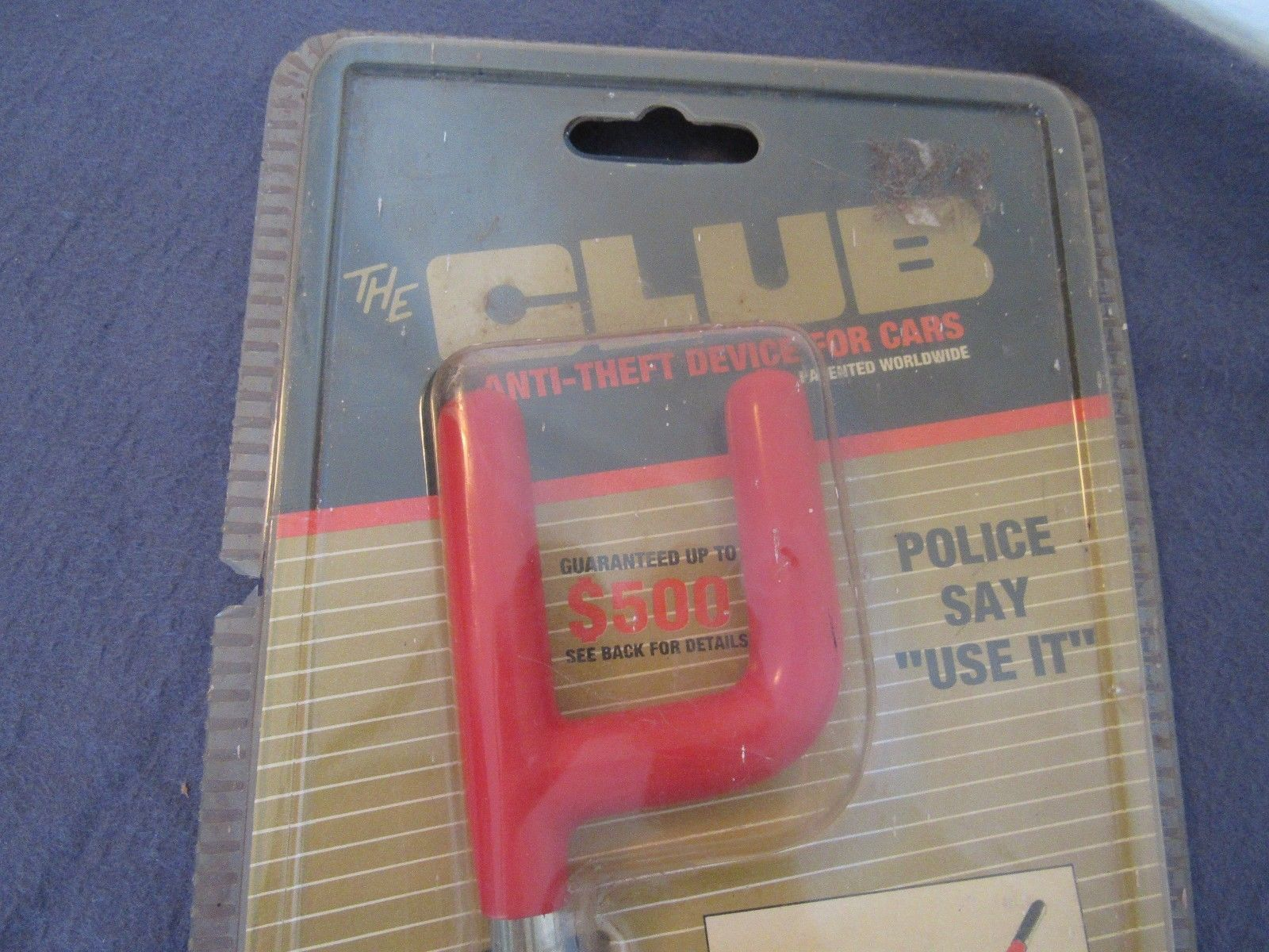 The Club  Anti-Theft Device For Cars. Model #1000 New Old Stock With Keys