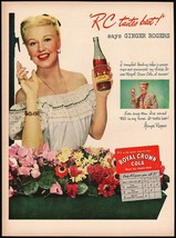 Vintage magazine ad ROYAL CROWN COLA RC from 1948 picturing Ginger Rogers - $11.69