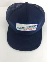 Pacific Western Express Snapback Trucker Hat Mesh Pinwheel One Size Vintage - $29.69