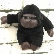 "Vintage Stuffed Animal Mini 6"" Gorilla Monkey Brown Black Stuffed Animal... - $9.89"