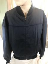 Campus Mens Full Zipper Lined Jacket Long Sleeve Size XXXL Black Split Seam - $43.00