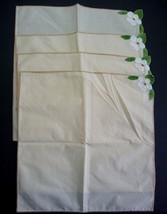 Vtg 4 Hand Stitched Embroidered Madeira Napkins - $9.89