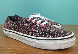 Vans Off The Wall Adult Speckled Shoes - Men's 5.5, Women's 7 - Pink, Black - $24.97