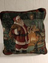 Vintage Christmas Throw Pillow Santa Claus - $34.60