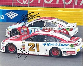 2X AUTOGRAPHED Kyle Busch & Ryan Blaney 2016 Sprint Cup Series (#18 M&Ms... - $134.95