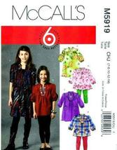 McCall's Pattern M5919 or 5919. Girls Szs 7;8;10;12;14 Top & Dresses. This is a  - $8.90