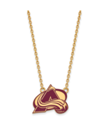 Ss/Gold Plated Sterling Silver With Gp Nhl Logoart Colorado Avalanche Lg... - $62.21